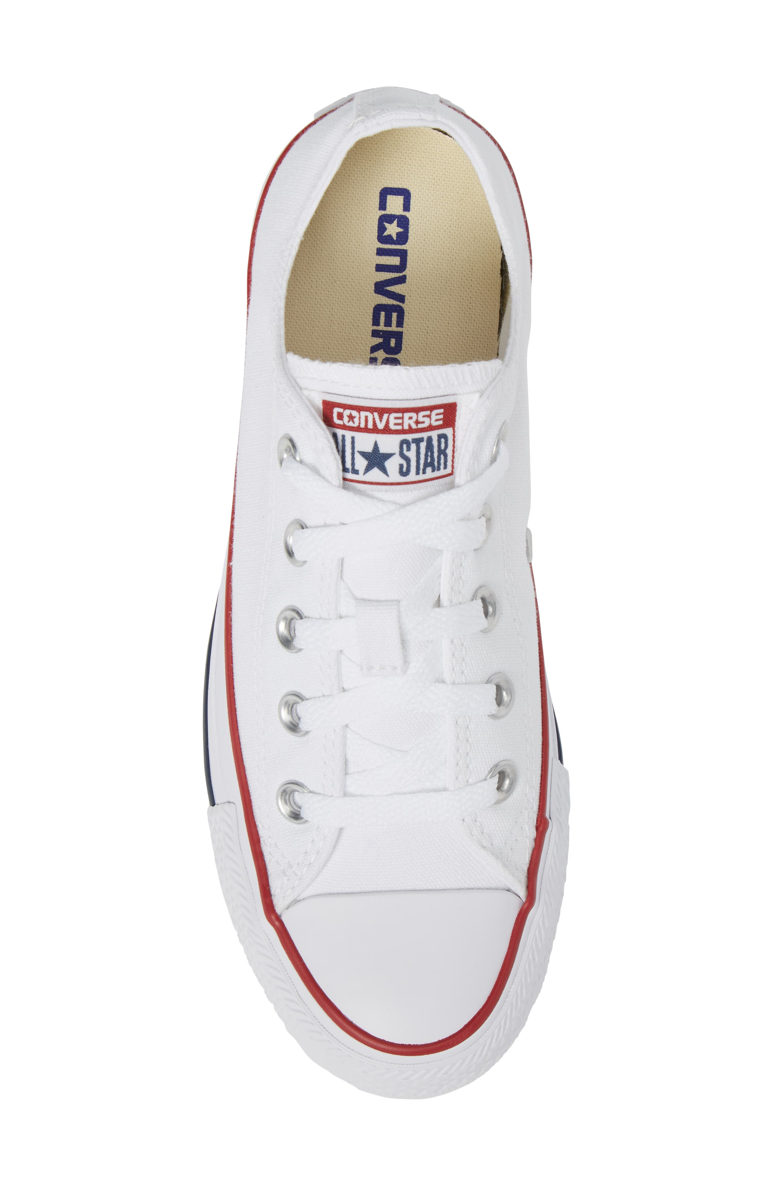 ,                             Chuck Taylor<sup>®</sup> Low Top Sneaker,                             Alternate thumbnail 6, color,                             OPTIC WHITE