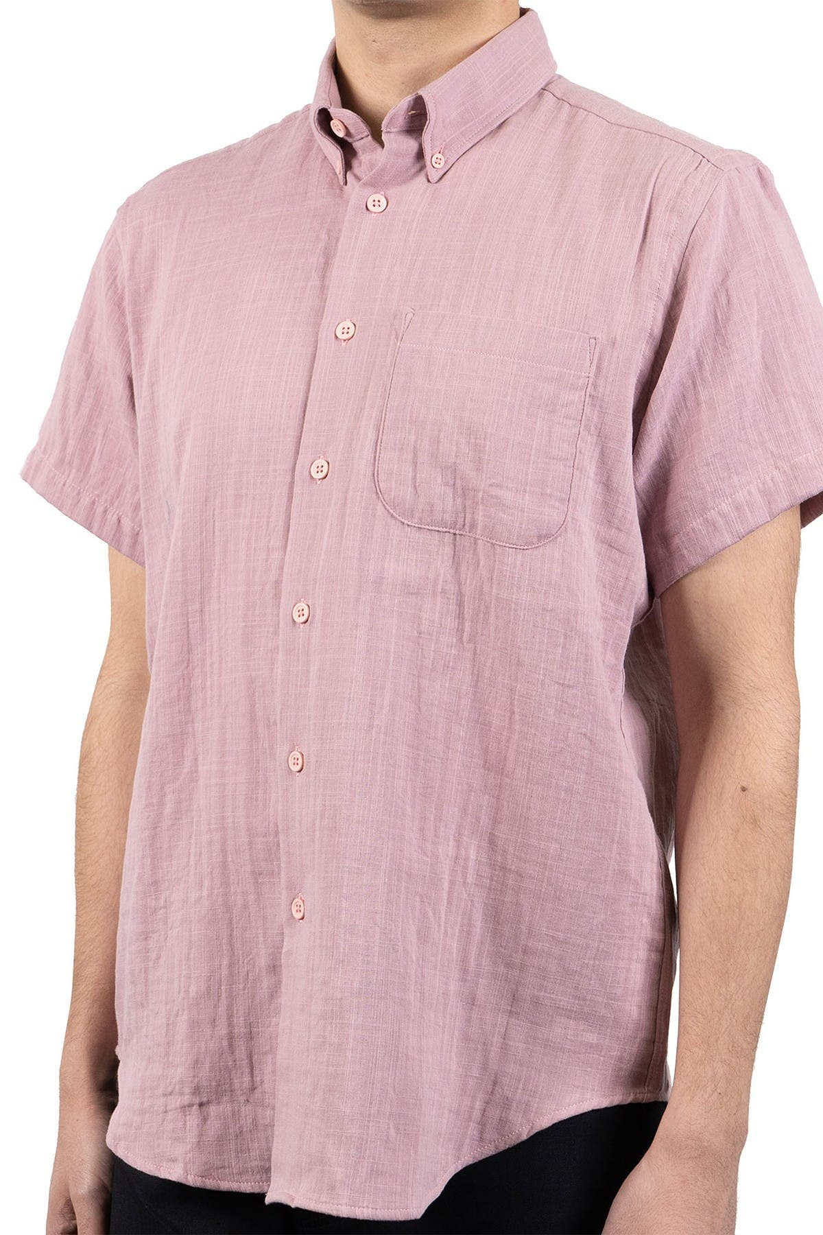 Image of Naked and Famous Double Weave Short Sleeve Shirt