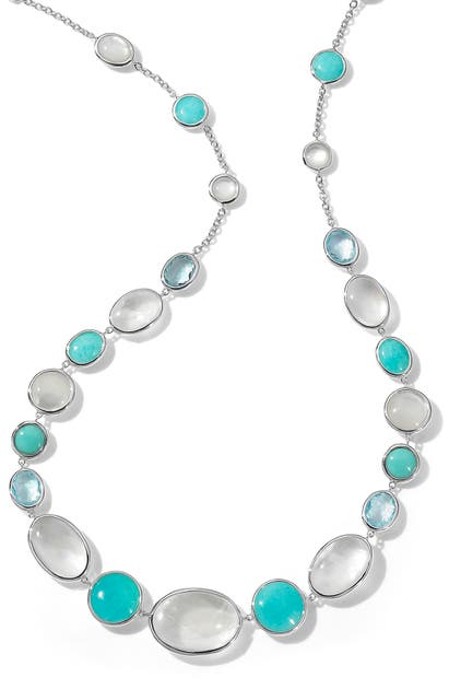 Ippolita ROCK CANDY LUCE 10-STONE LONG STERLING SILVER NECKLACE