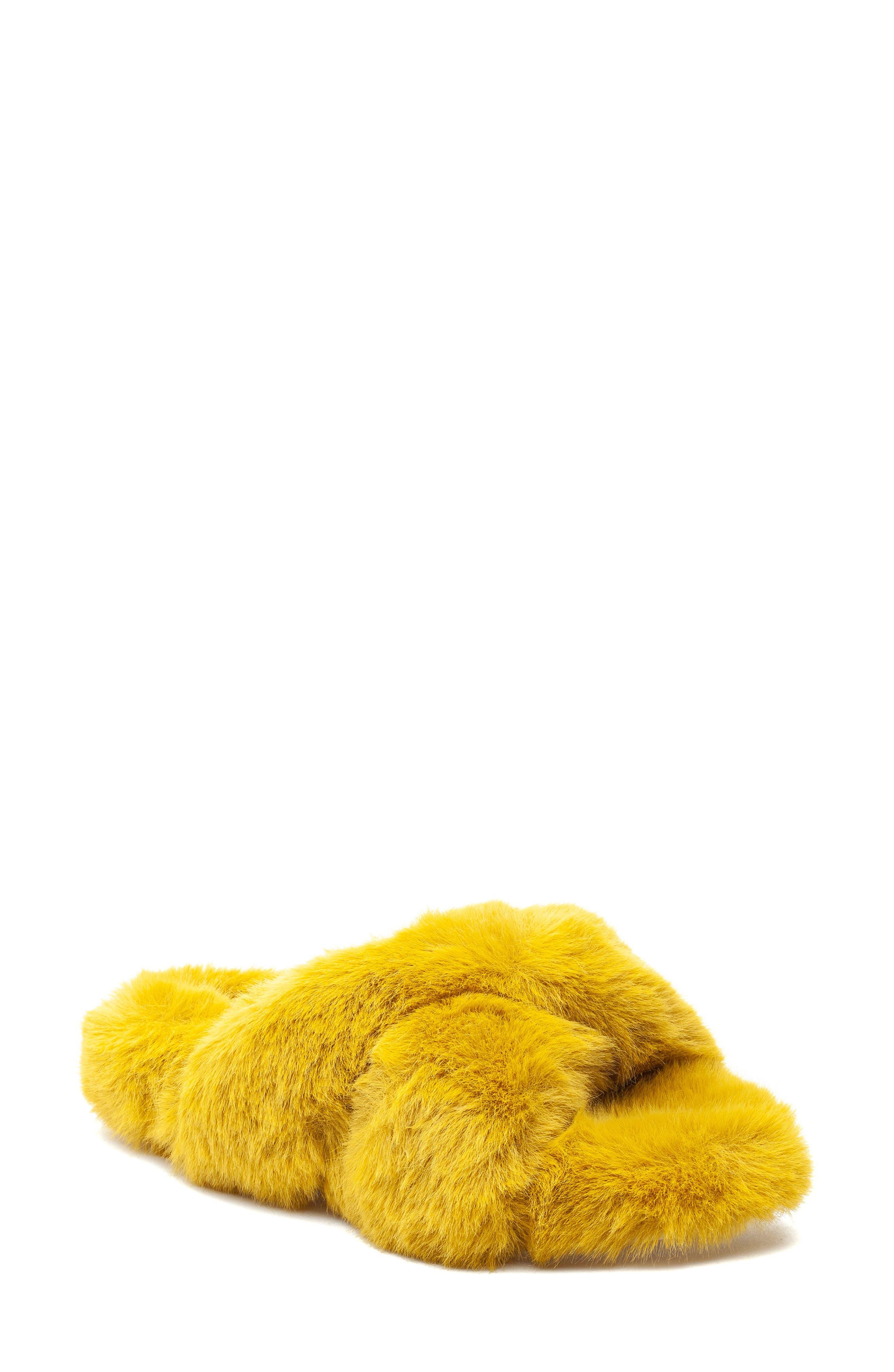 Women's J Slides Charli Faux Fur Slide Sandal