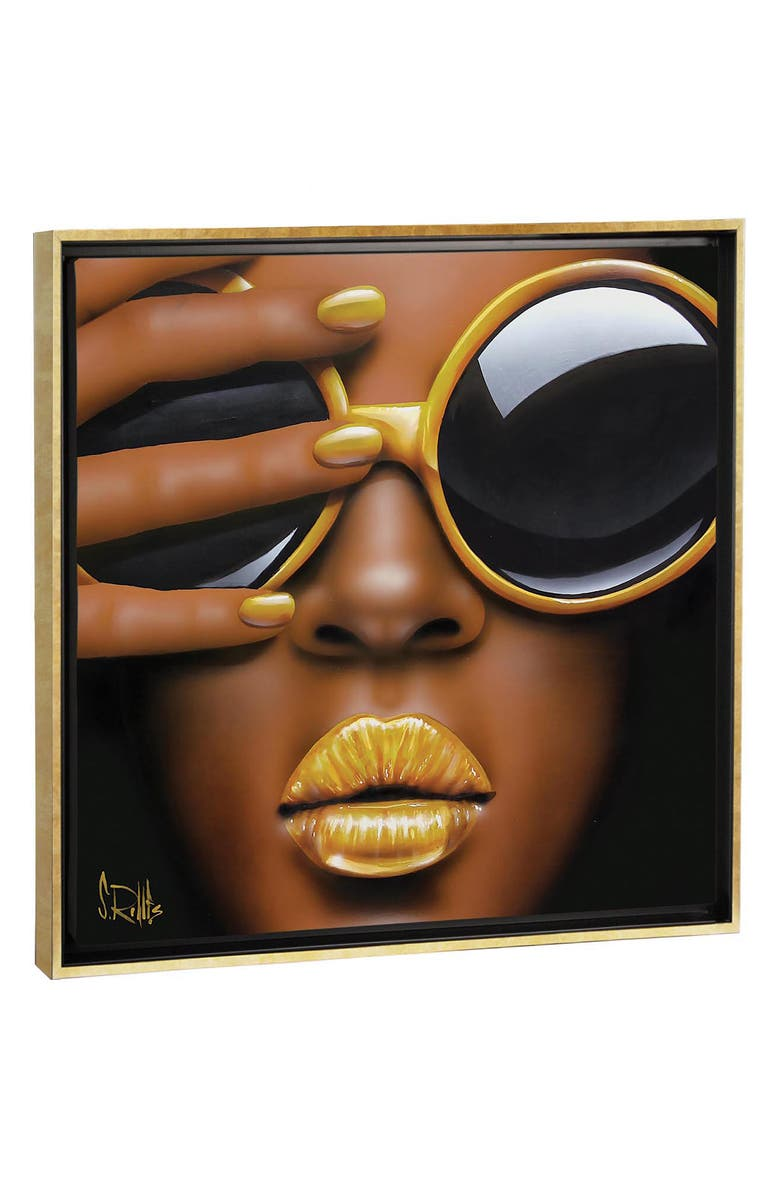 ICANVAS Goldilips by Scott Rohlfs Print Canvas Art, Main, color, BLACK