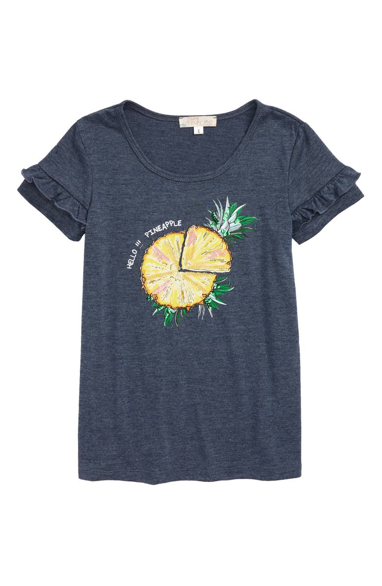 TRULY ME Pineapple Slice Tunic Tee, Main, color, 460