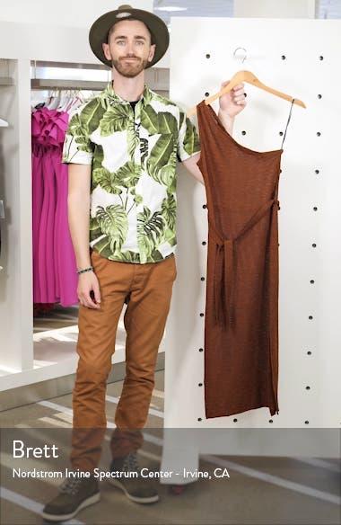 Texture Stripe One Shoulder Midi Dress, sales video thumbnail