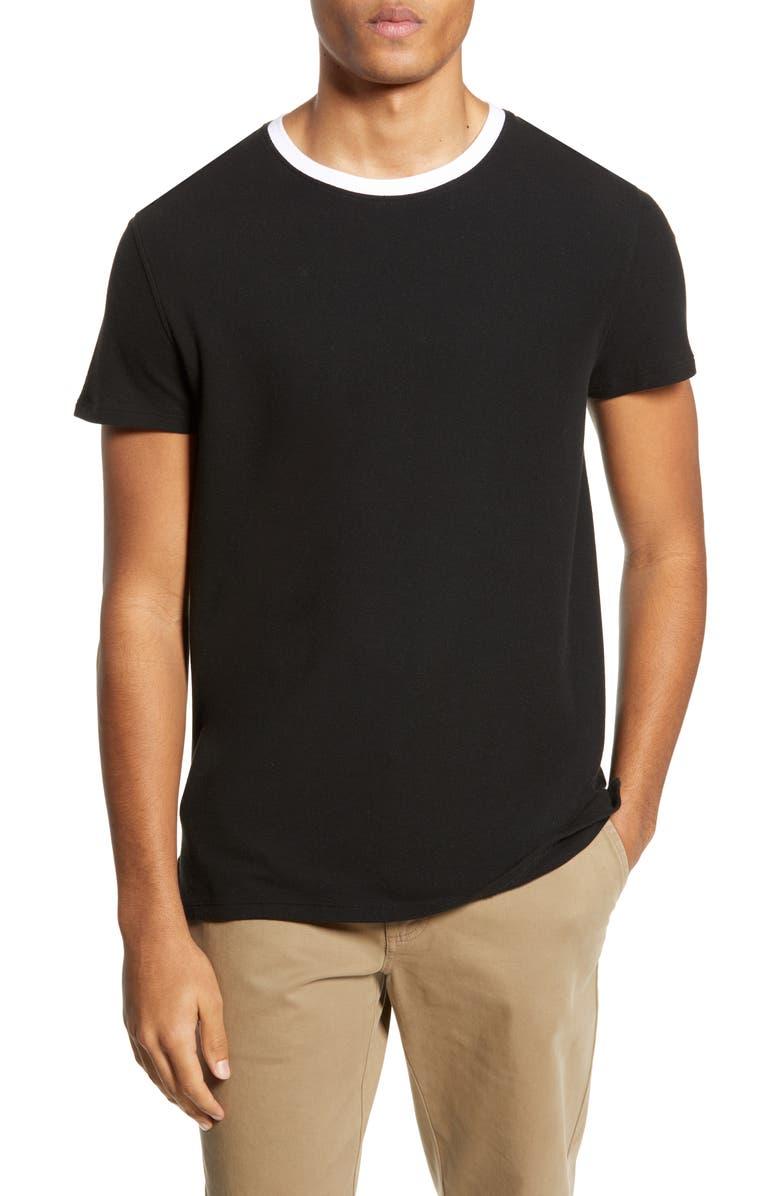 ATM ANTHONY THOMAS MELILLO Piqué Ringer T-Shirt, Main, color, 001