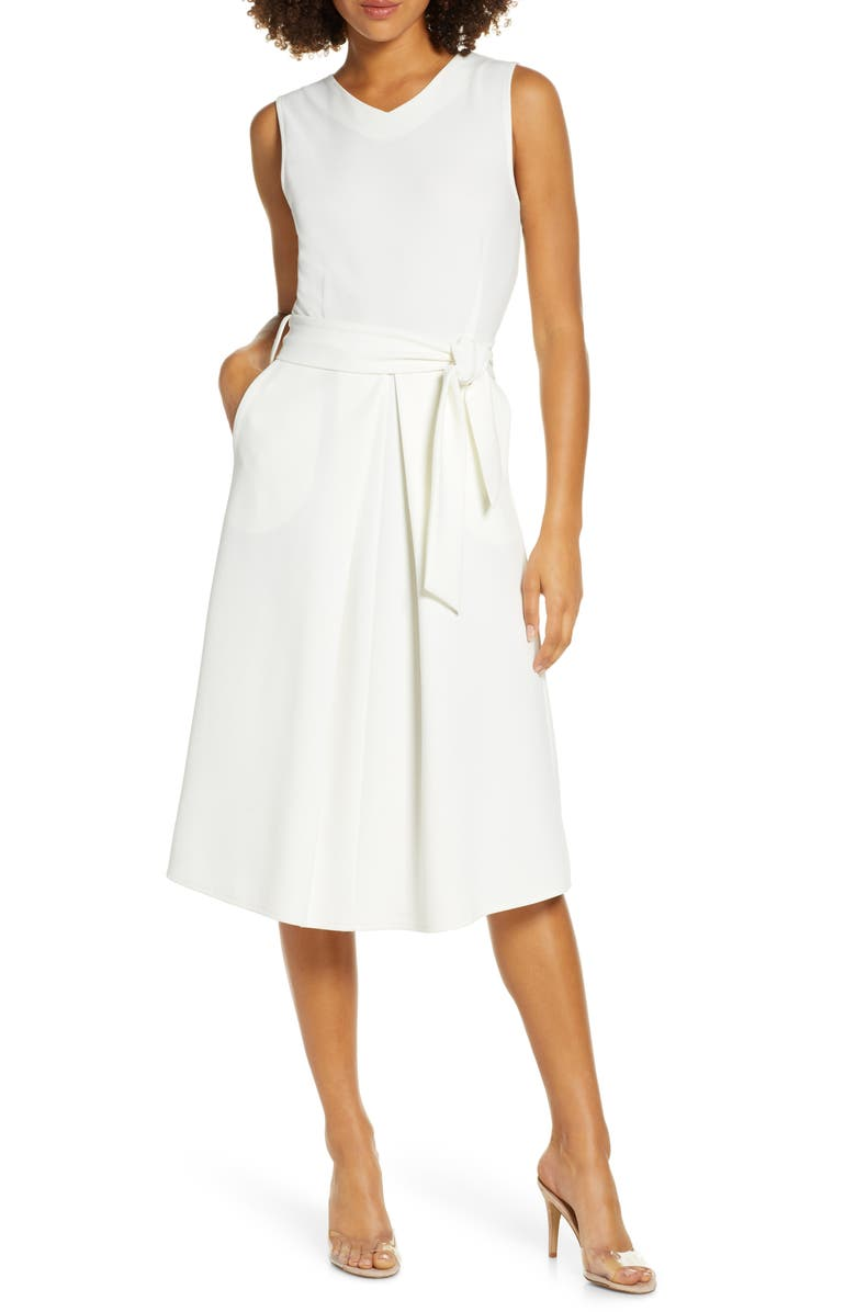 Tie Waist Midi Dress by Elizabeth Crosby