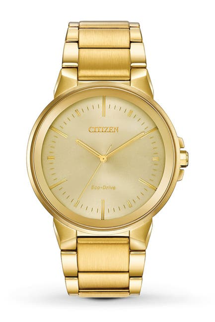 Image of Citizen Men's Axiom Gold-Tone Stainless Steel Watch, 43mm