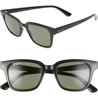 Ray-Ban Wayfarer 51Mm Polarized Sunglasses - Black/ Dark Green Polar