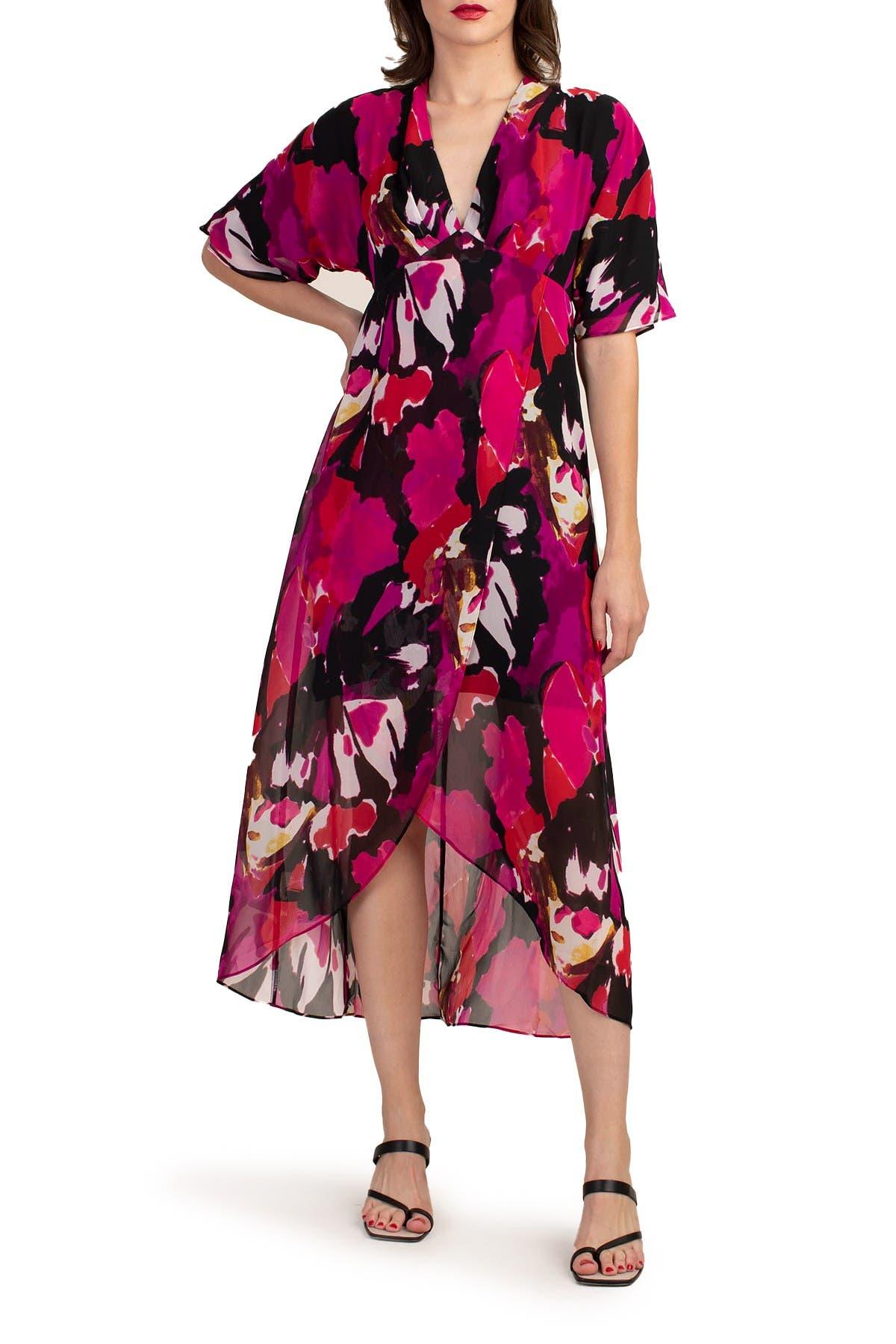 Image of Trina Turk Hana Printed High/Low Hem Dress