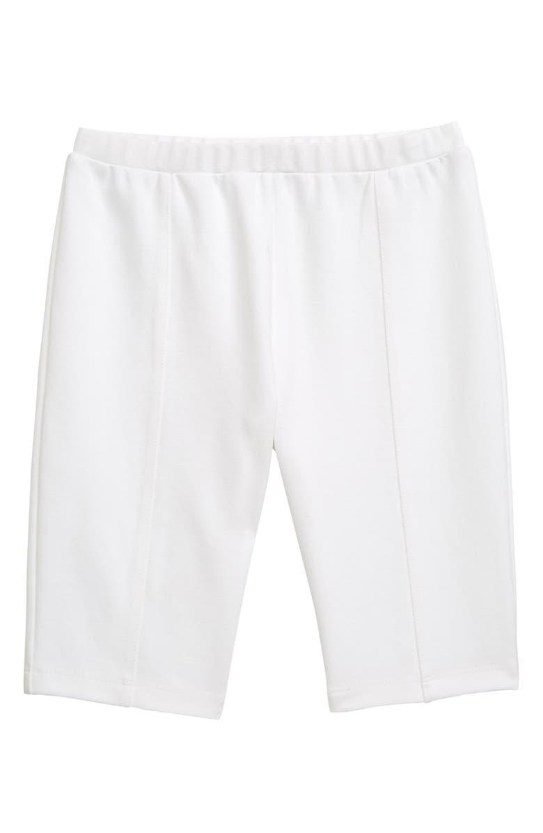 HABITUAL Ponte Bike Shorts, Main, color, WHITE