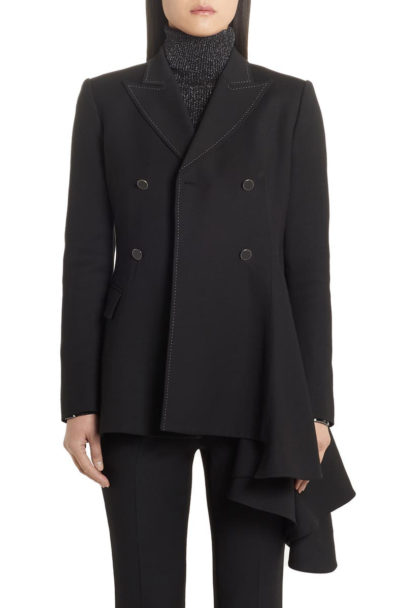 OFF-WHITE Floating Double-Breasted Blazer, Main, color, BLACK