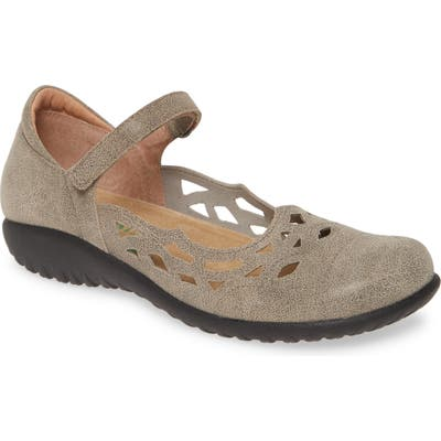 Naot Agathis Mary Jane Flat, Beige