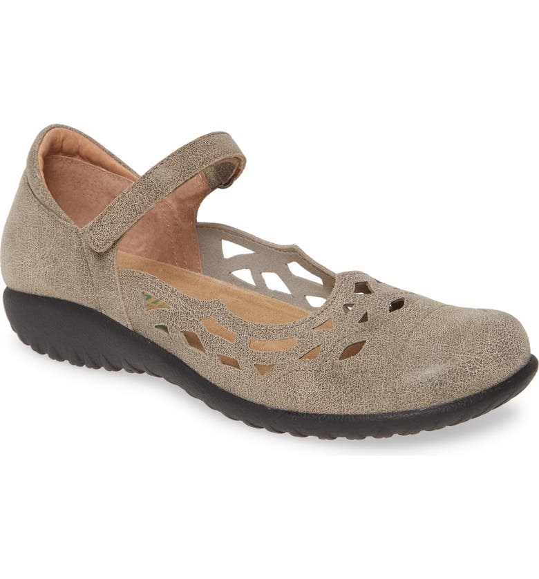 NAOT Agathis Mary Jane Flat, Main, color, SPECKLED BEIGE LEATHER