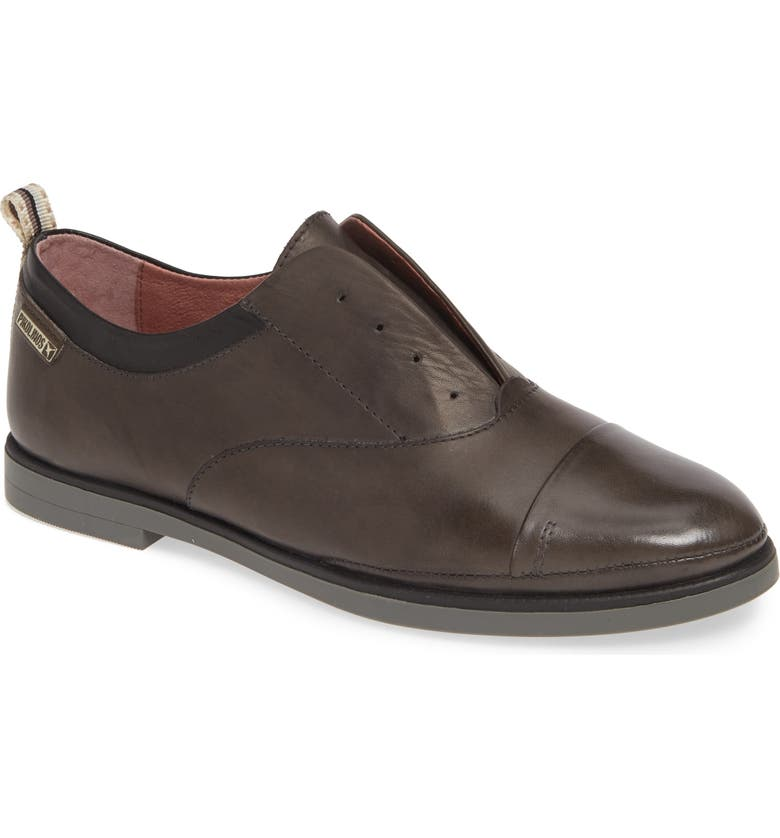 PIKOLINOS Pyrgos Laceless Oxford, Main, color, LEAD LEATHER
