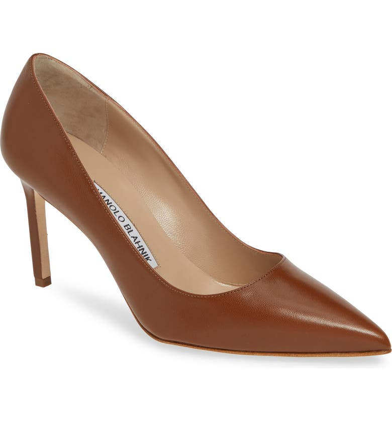 MANOLO BLAHNIK BB Pump, Main, color, TAN LEATHER