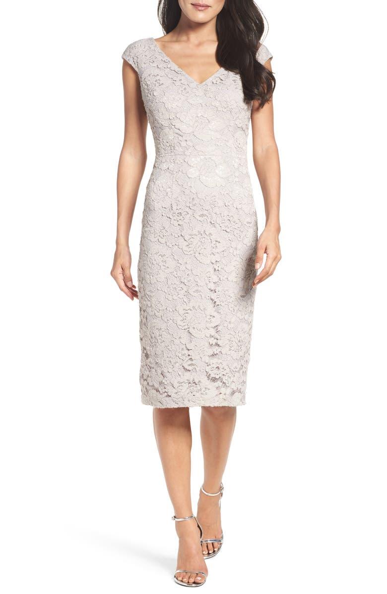 MAGGY LONDON Lace Sheath Dress, Main, color, 264