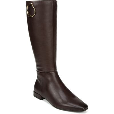 Naturalizer Carella Tall Boot, Regular Calf- Brown