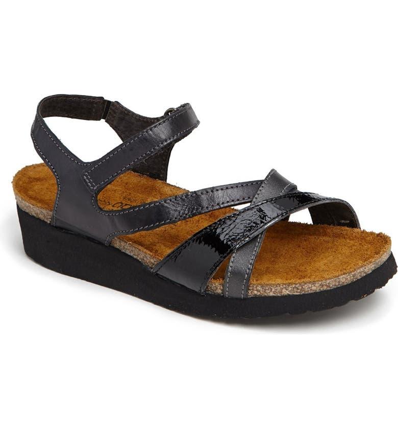 NAOT 'Sophia' Sandal, Main, color, BRUSHED BLACK COMBO