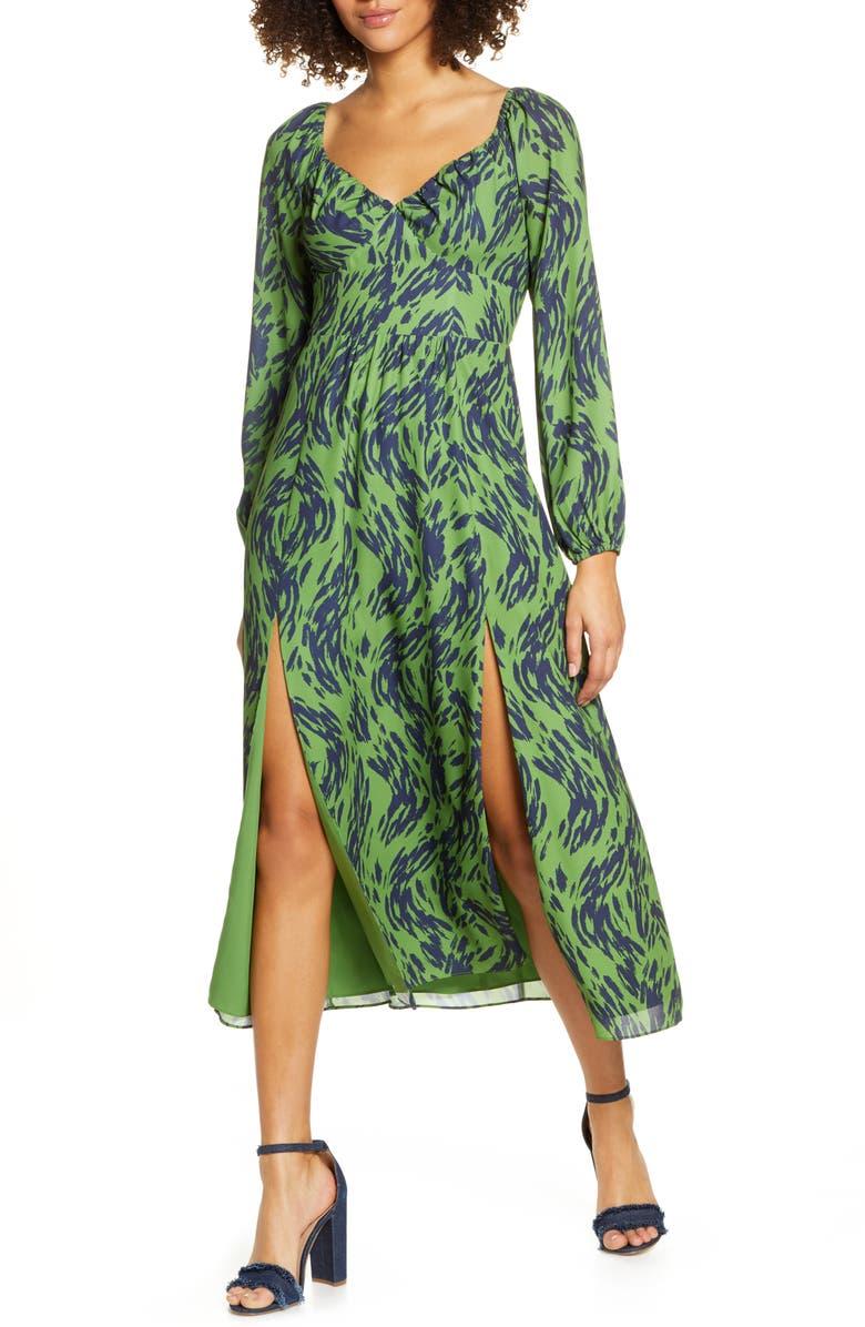 ALI & JAY Art Snob Long Sleeve Print Dress, Main, color, 323
