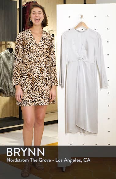 Front and Back Twist Silk Dress, sales video thumbnail
