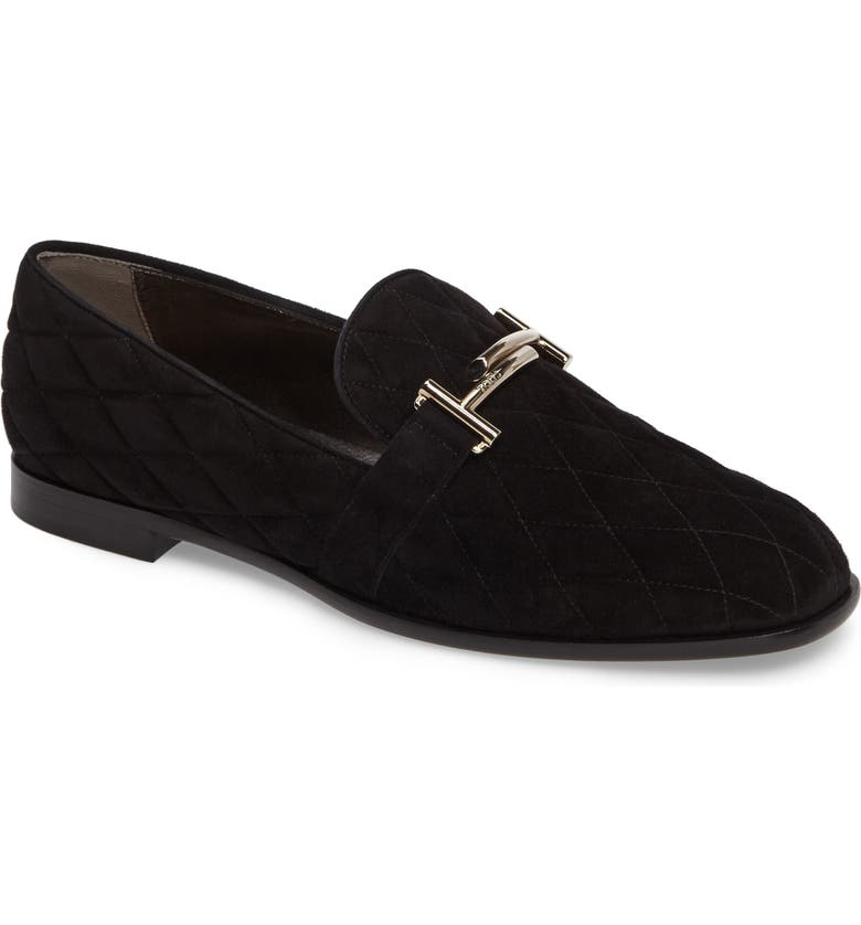 good looking super specials best prices Tod's Quilted Double T Loafer (Women) | Nordstrom