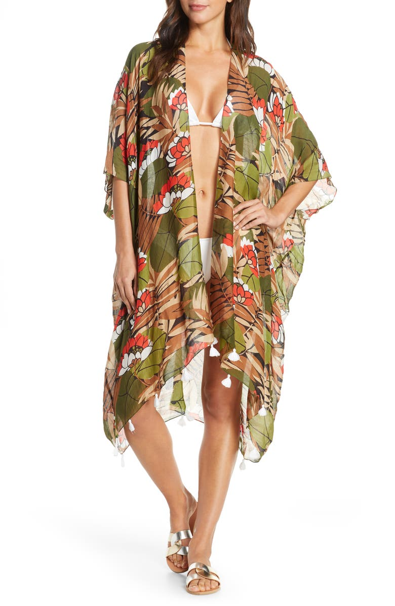POOL TO PARTY Lotus Pathway Cover-Up Wrap, Main, color, 250