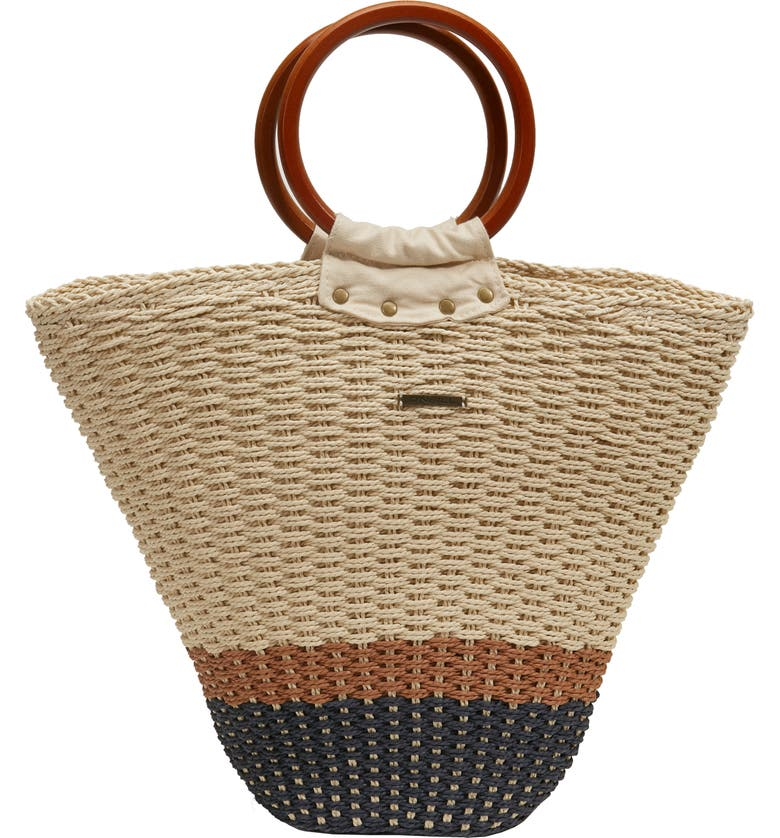 O'NEILL Kye Straw Tote, Main, color, 250