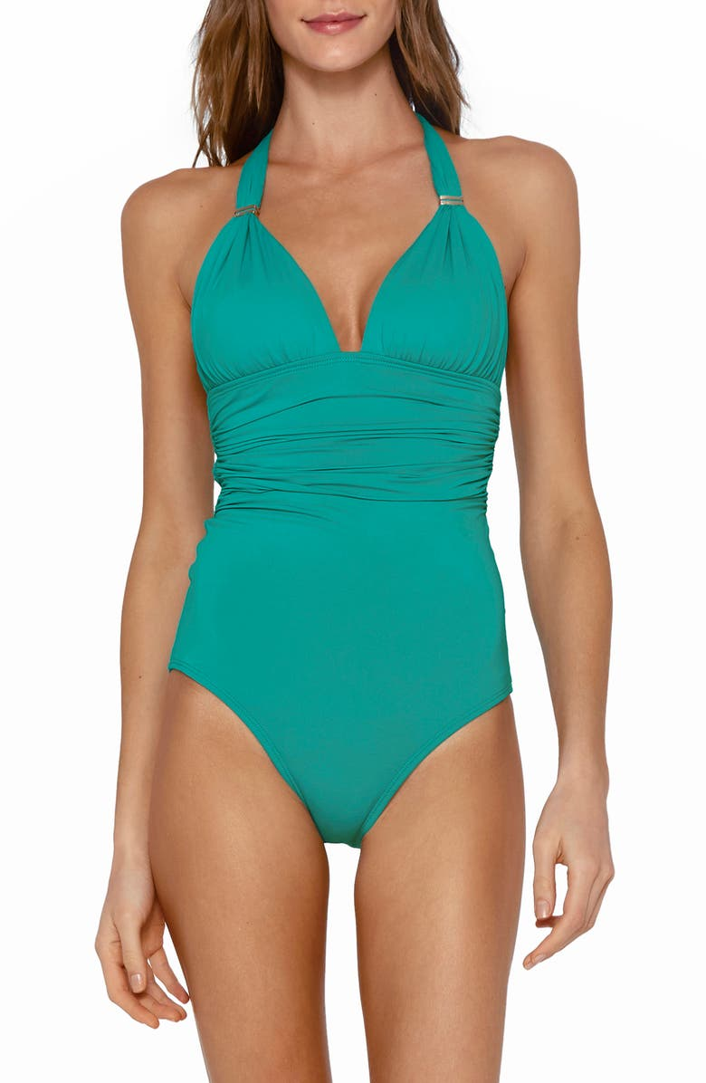 VIX SWIMWEAR Bia One-Piece Swimsuit, Main, color, TEAL