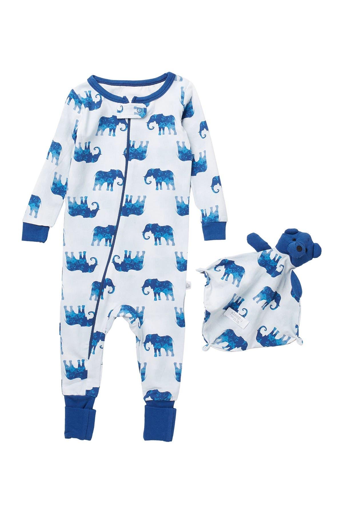Image of CLOUD NINE Coverall Pajamas with Blankey