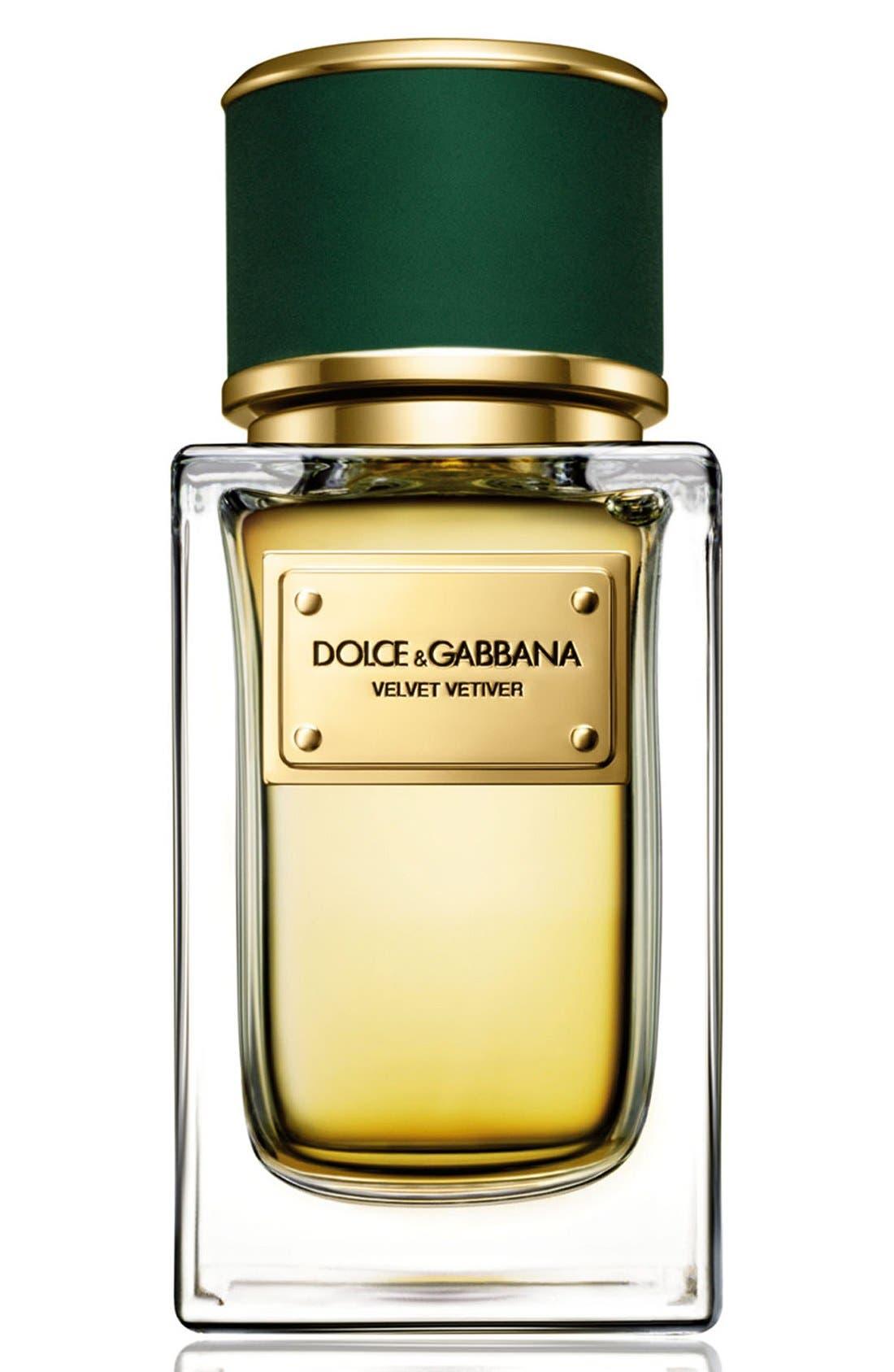 ,                             Dolce&GabbanaBeauty 'Velvet Vetiver' Eau de Parfum,                             Main thumbnail 1, color,                             NO COLOR