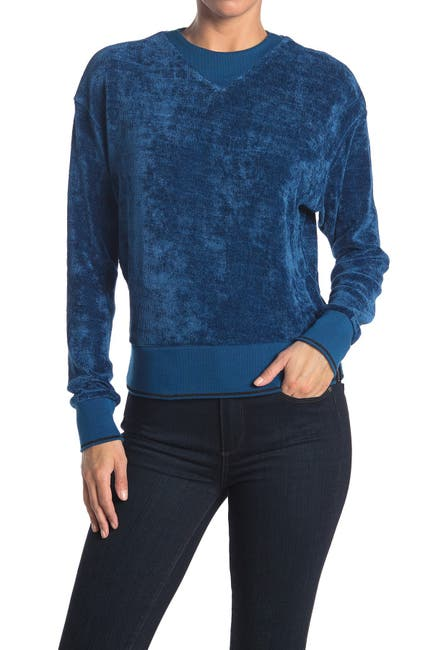 Image of Scotch & Soda Chenille Sweater with Rib Detail