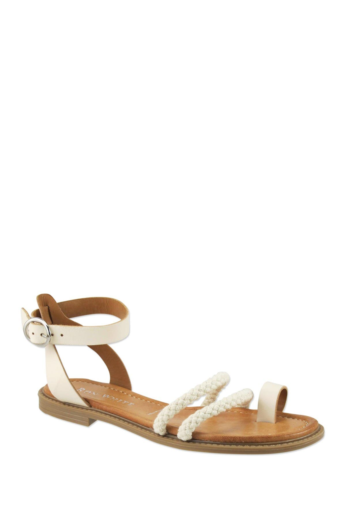 Image of RON WHITE Saralie Braided Toe Strap Sandal