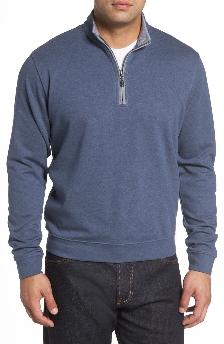 JOHNNIE-O Sully Quarter Zip Pullover, Main, color, HELIOS BLUE
