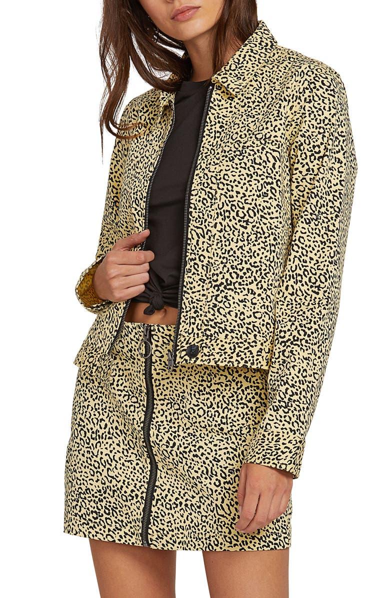Volcom Frochickie Leopard Print Jacket
