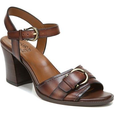 Naturalizer Malika Ankle Strap Sandal, Brown