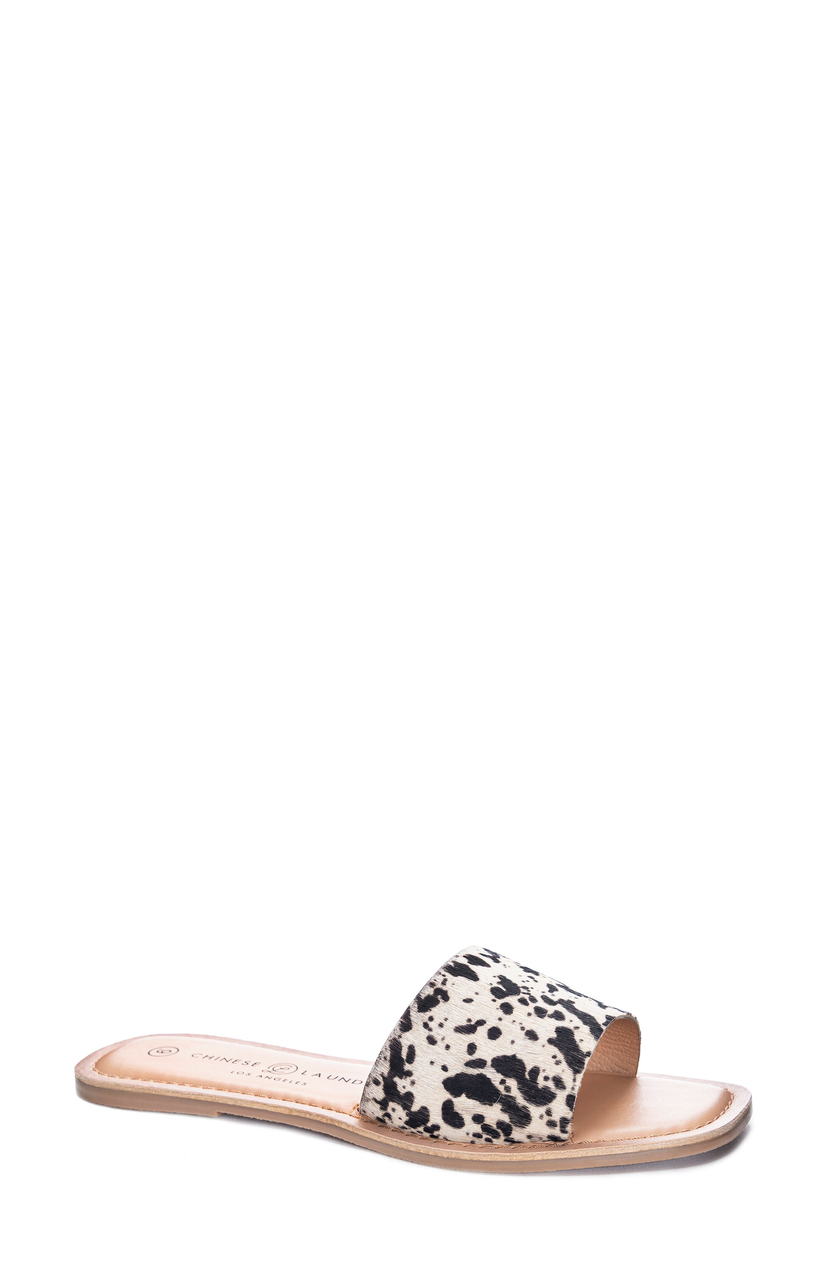 Regina Genuine Calf Hair Slide Sandal