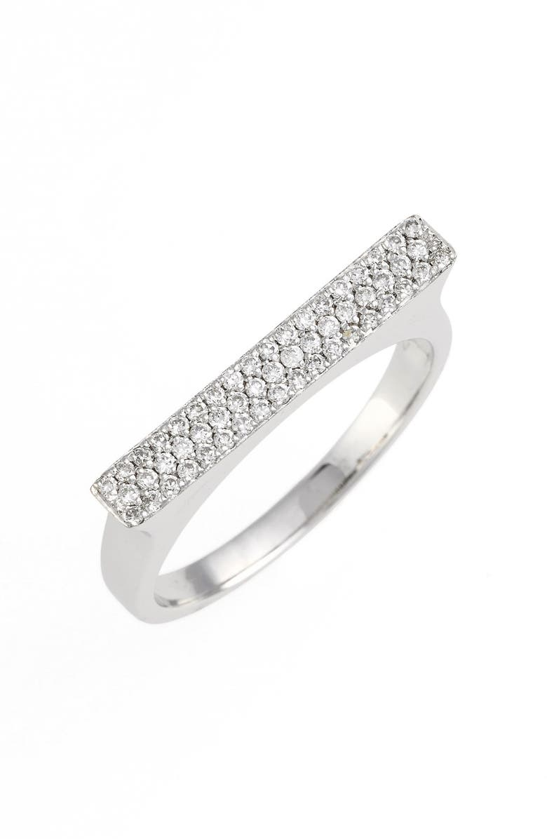 BONY LEVY Diamond Bar Ring, Main, color, WHITE GOLD