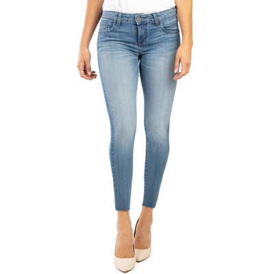 Kut From The Kloth Donna Raw Hem Ankle Skinny Jeans, Blue