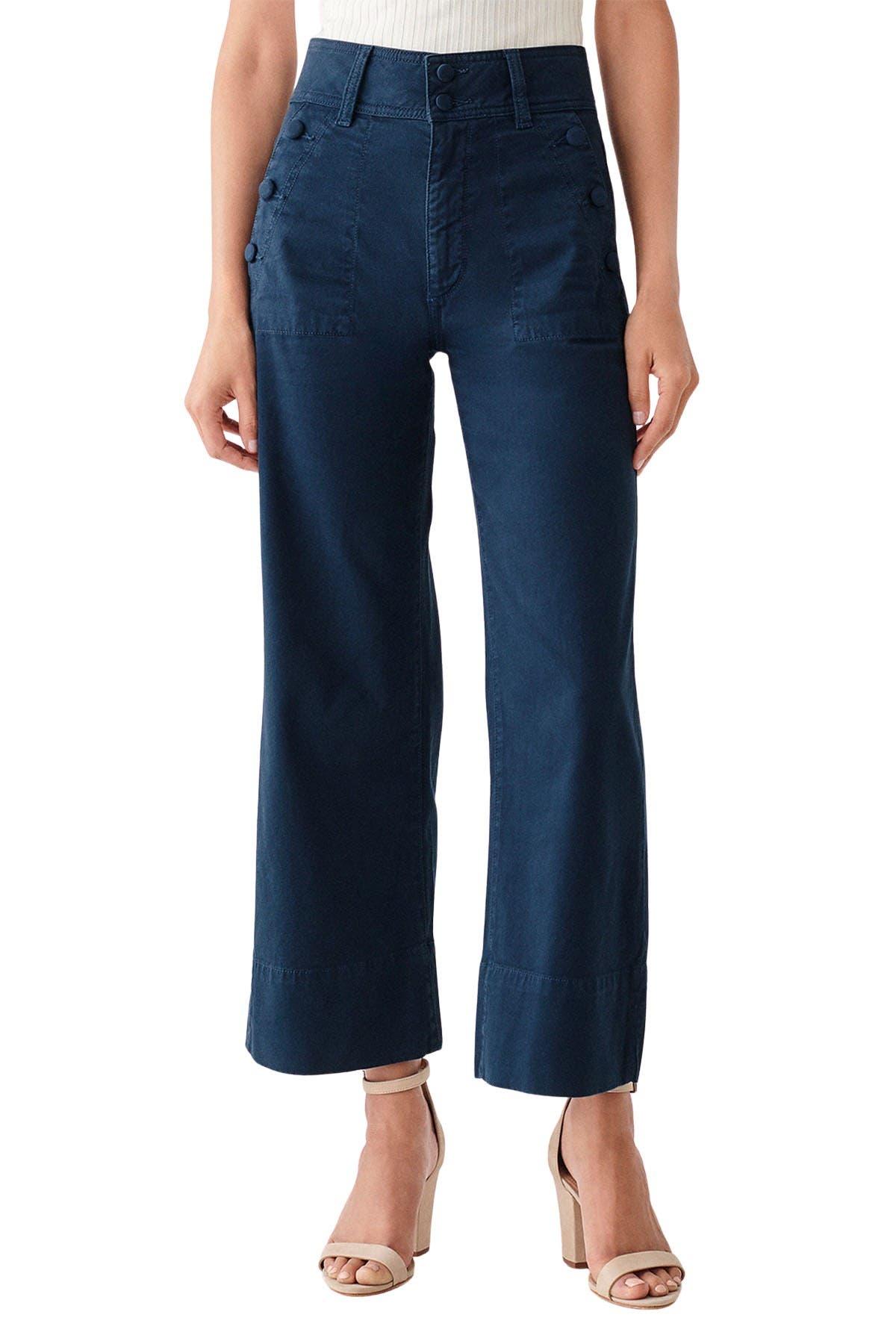 DL1961 Womens Hepburn High Rise Wide Leg Jeans