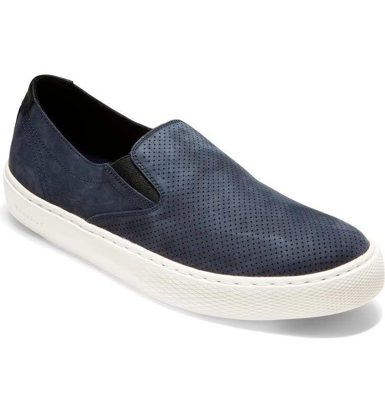 COLE HAAN GrandPro Deck Slip-On, Main, color, NAVY NUBUCK