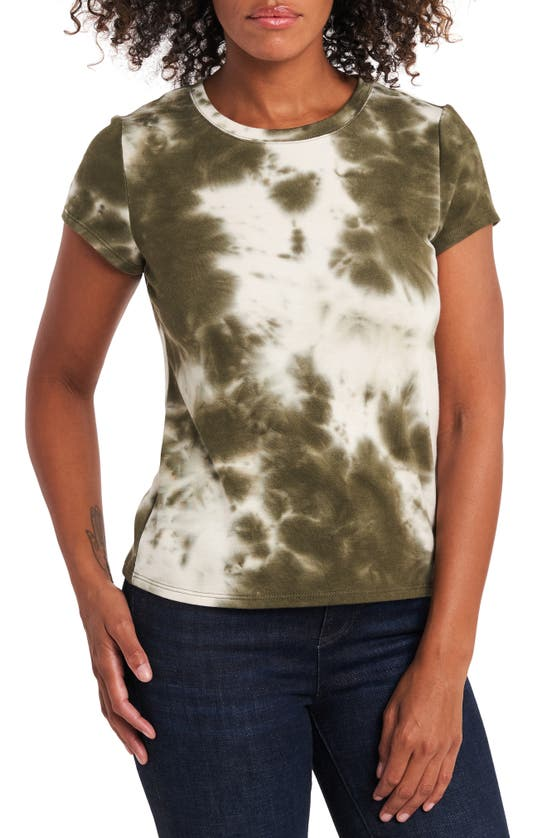 1.state Tie Dye Top In Dark Olive