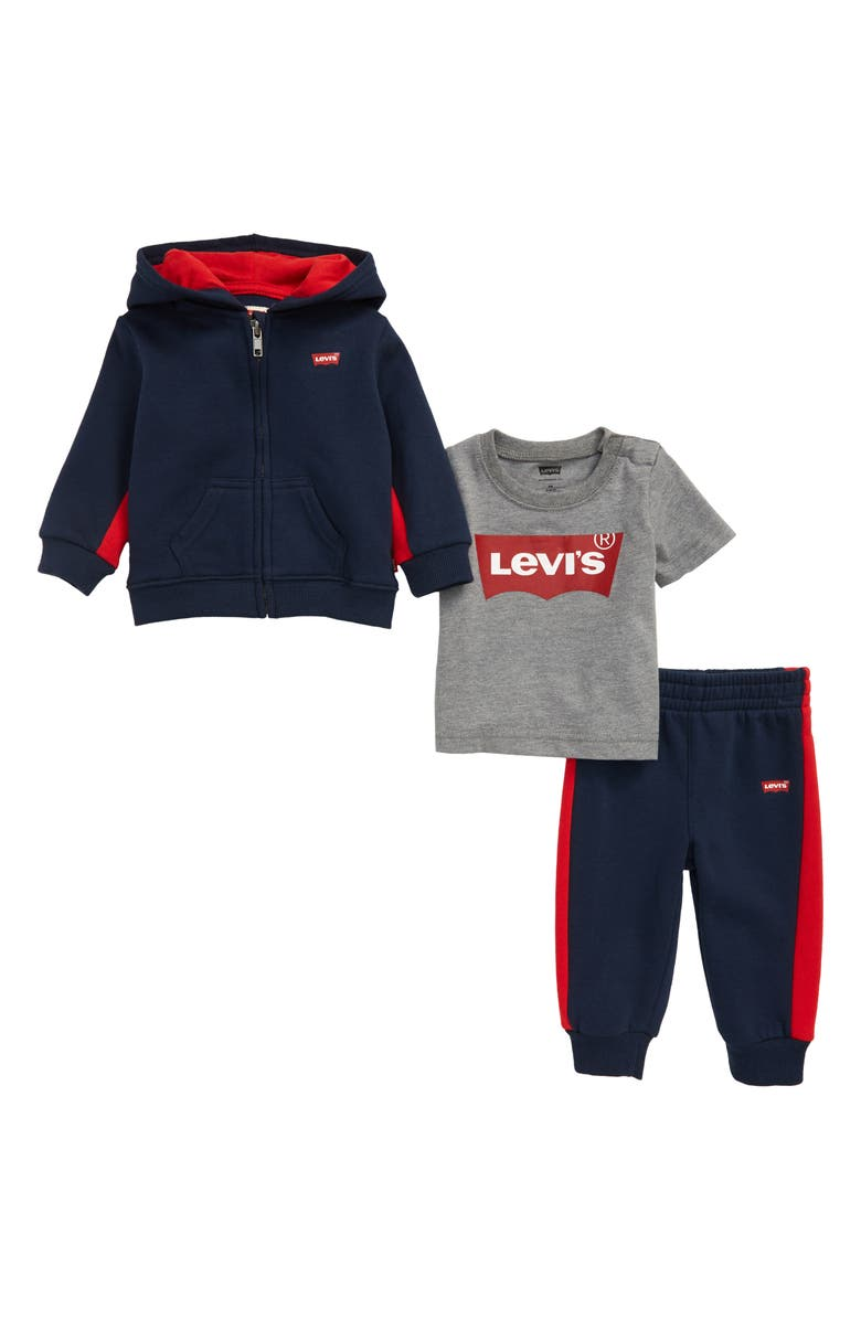 LEVI'S<SUP>®</SUP> Batwing Logo Hoodie, T-Shirt & Joggers, Main, color, 404