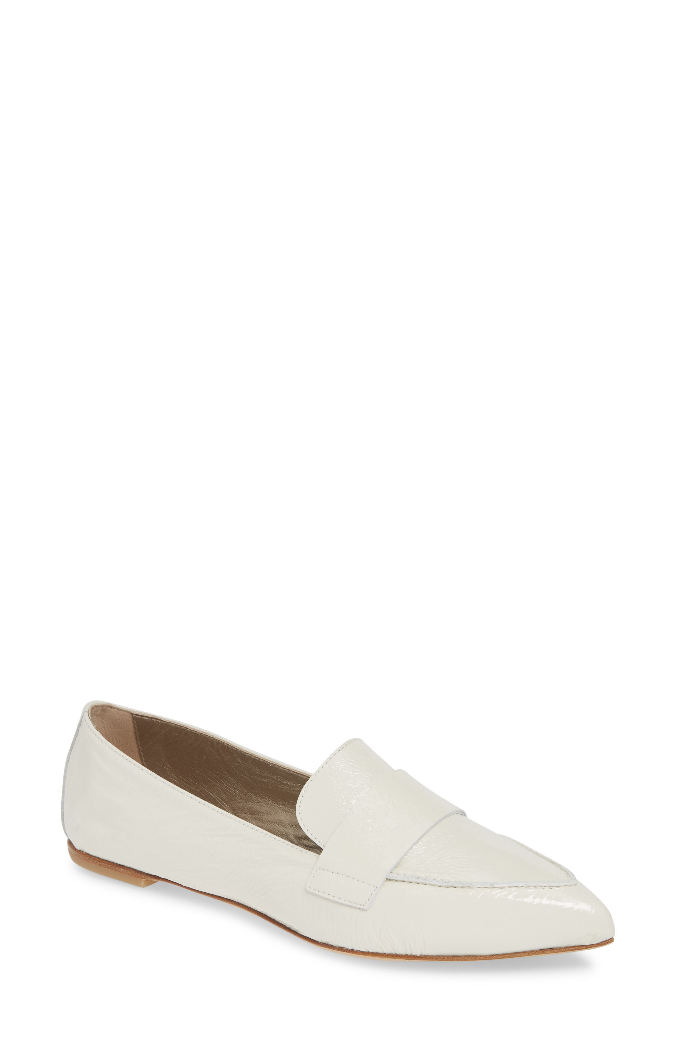 Agl Softy Pointy Toe Moccasin Loafer - White