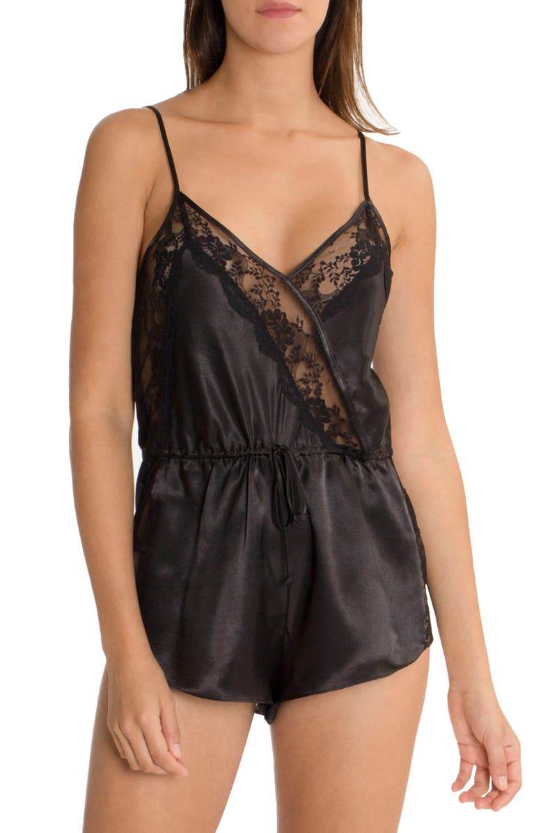 IN BLOOM BY JONQUIL Lace Romper, Main, color, 001