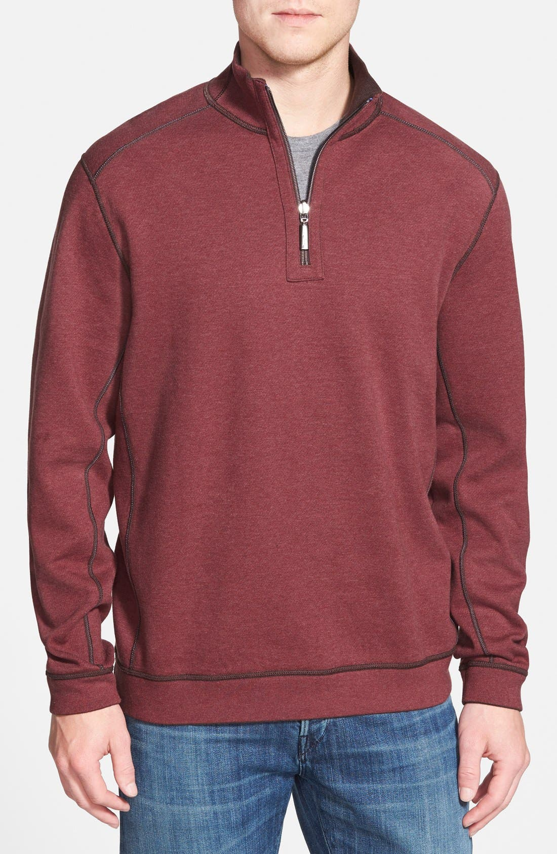 ,                             'Flip Side' Reversible Quarter Zip Pullover,                             Alternate thumbnail 38, color,                             202