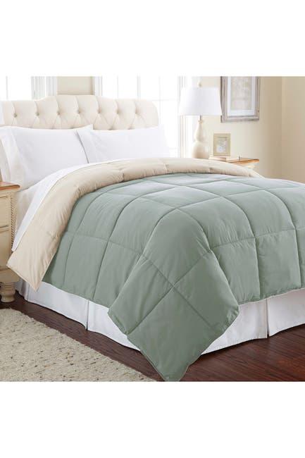 Image of Modern Threads Down Alternative Reversible Queen Comforter - Dusty Sage/Almond