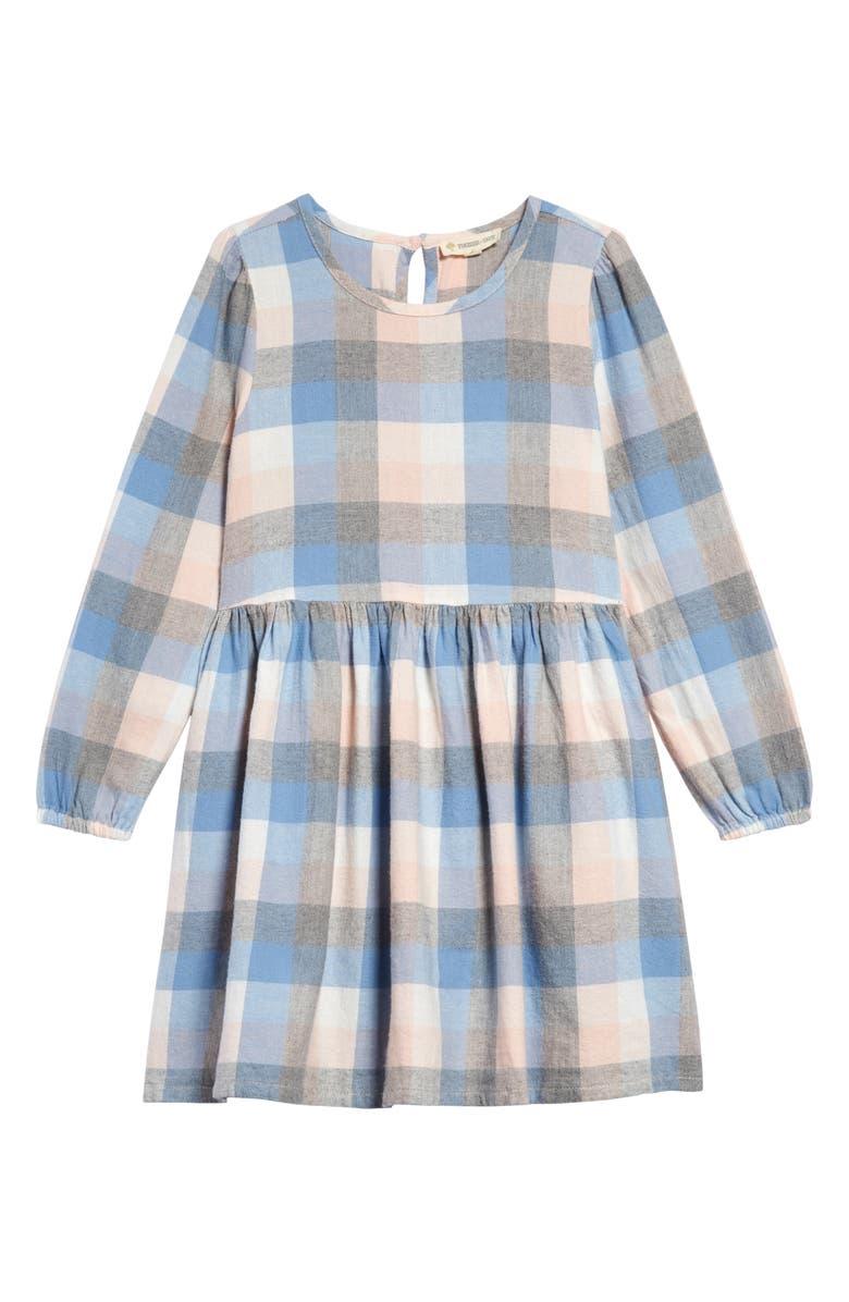 TUCKER + TATE Pretty Plaid Dress, Main, color, PINK ENGLISH- BLUE PLAID