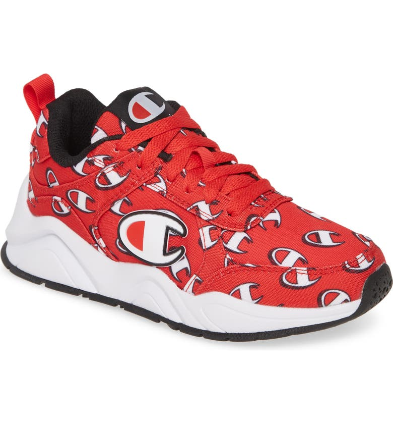 CHAMPION 93Eighteen Repeat C Sneaker, Main, color, RED