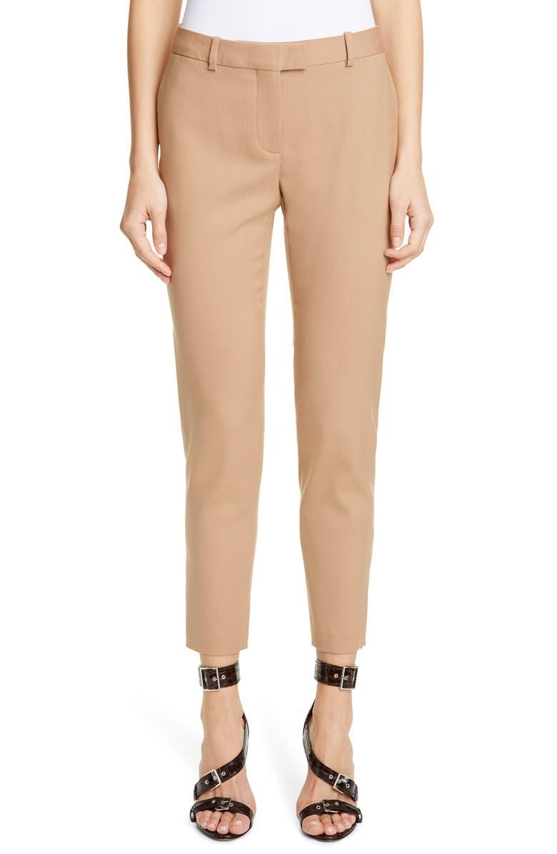 ALTUZARRA Henri Skinny Stretch Wool Pants, Main, color, FARRO