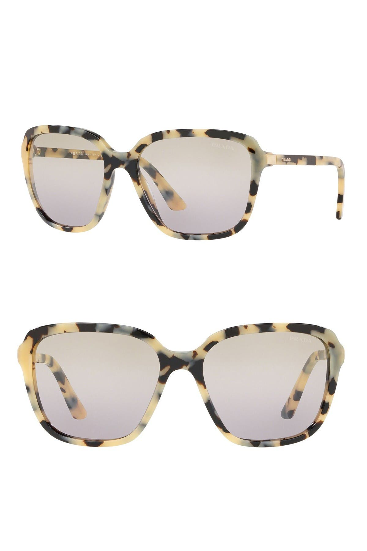 Image of Prada 60mm Pillow Sunglasses