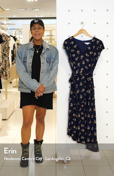 Amy Asymmetrical Midi Dress, sales video thumbnail